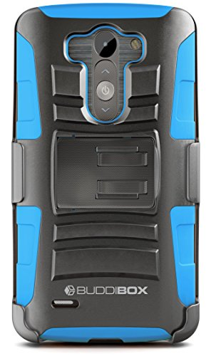 LG G3 Case, BUDDIBOX [HSeries] Heavy Duty Swivel Belt Clip Holster with Kickstand Maximal Protection Case for LG G3, (Blue)