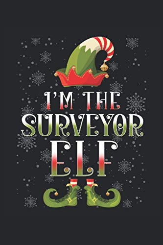"Notebook: Nice Notebook with Surveyor Christmas Elf Cover | Lined | 6"" x 9"" 