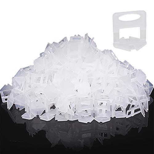 500 Stück Standard Laschen Fugenbreite 1.5mm, Nivelliersystem Fliesen Nivellierhilfe Zuglaschen Fugenbreite Verlegehilfe für Fliesen Höhe 3-12 mm(500 Laschen,1.5mm)