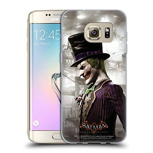 Head Case Designs Offizielle Batman: Arkham Knight Joker Darsteller Soft Gel Huelle kompatibel mit Samsung Galaxy S7 Edge