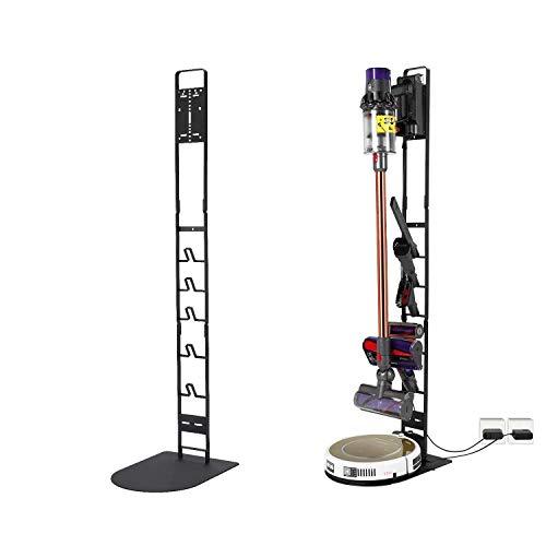 Luchs Ständer für Dyson Rowenta Philips Xiaomi Akkusauger - Organizer für Dyson V6,V7,V8,V10,V11,DC30,DC31,DC34,DC35 Standfuß Halterung Rahmen - Robo (Schwarz)