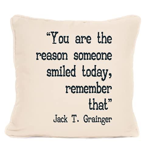 Jack T Grainger Cita 'You Are The Reason Someone' Cojín con almohadilla, mejor almohada – Ideas de regalo para Navidad, cumpleaños o cualquier otra ocasión – 45,7 x 45,7 cm