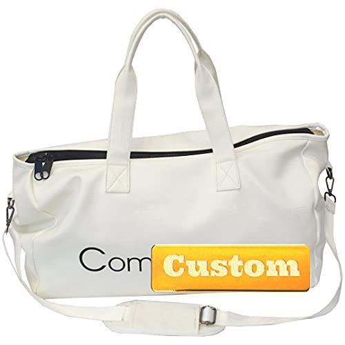 INGKDDL Nombre Personalizado Mujeres Tote Gimnasio Deporte Duffel Bag Backpack Gimnasio Tote Compartimiento de Zapatos (Color : Grey, Size : One Size)