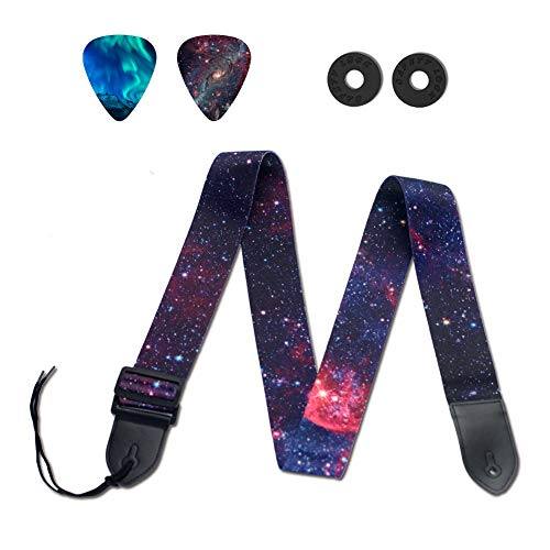 Van Gogh Starry Night Guitar Strap Includes Strap Button /& 2 Strap Locks Adjustable Guitar Shoulder Strap For Bass Electric /& Acoustic Guitar.Best Birthday Gift for Men Women Guitarist