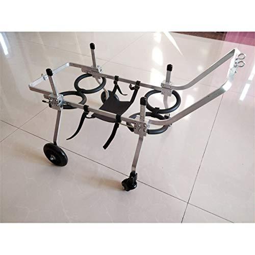 Silla de ruedas para perros ajustable Perro silla de ruedas, ajustable 4...