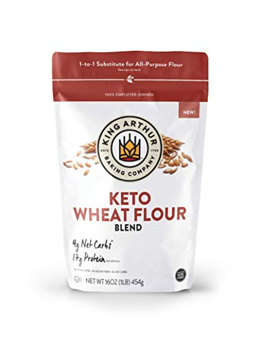 King Arthur, Keto Wheat Flour Blend, Non-GMO Project Verified, 1-to-1 Substitute for All- Purpose Flour,16 Ounces