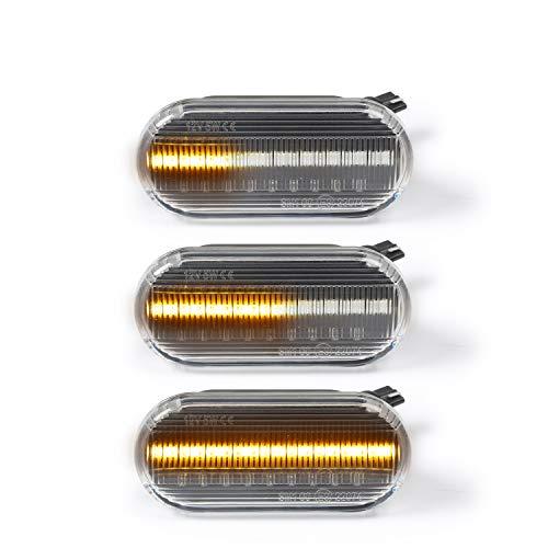 OZ-LAMPE LED Dynamische Seitenblinker Blinker 2 X Bernstein 18 SMD mit CAN-Bus-Fehlerfrei Klar Für Fiesta C-Max Focus Fusion Galaxy Bora Golf Jetta Passat Polo Sharan Vento Ibiza Leon Citigo Felicia