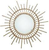 Espejo Montado En La Pared De Mimbre De RatáN Para Sala De Estar, Dormitorio, Oficina 40 cm Color Aleatorio