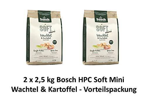 Bosch Soft Mini Wachtel & Kart. | 2 x 2,5kg Hundefutter Vorteilspack
