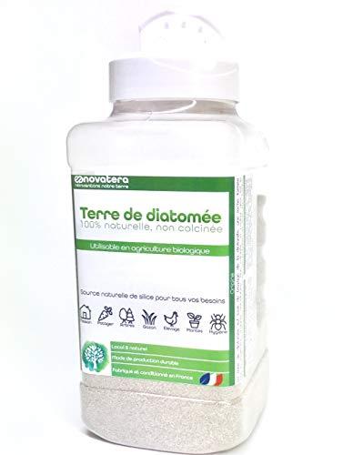 NOVATERA Terre de Diatomée 100% Naturelle - Poudreuse 300 g - Garantie Origine France - Ultrapure - Formats 0,3 à 12 kg - Protection écologique - ECOCERT Utilisable Agriculture Biologique