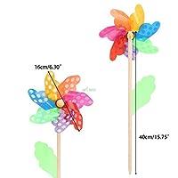 おもちゃ カラフルな風車の風の風のスピナー風車ホームガーデンヤードの装飾キッズのおもちゃの5月7日のドロップシッピング