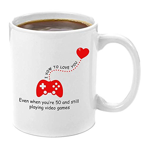 I Vow To Love You | Premium 11oz Coffee Mug Gift - Perfect Funny Gamer Gifts, Novelty Computer Nerd Gifts, Video Game Console Lover, Best Geek Gifts, Anniversary Gift for Him, Birthday Present for Her