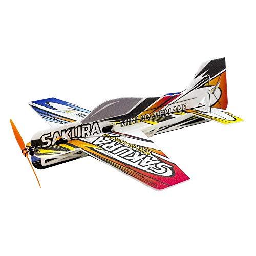 MICEROSHE Avión RC E211 Mini 3D Avión Kit 420mm Envergadura Entrenador por Principiante 3D acrobático Aviones de RC Avión de Acrobacias (Color : Multicolor, tamaño : Un tamaño)