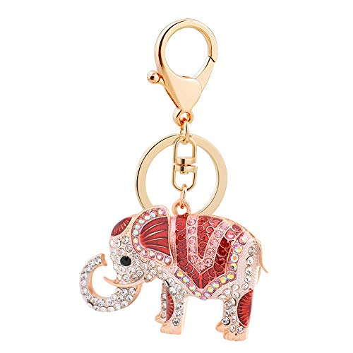 LZHLMCL Llaveros Para Niñas Llavero De Elefante Tridimensional Que Gotea Aceite Bebé Elefante Coche Colgante Llavero Bolsa De Regalo Adornos