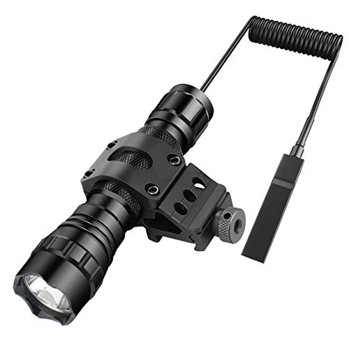 BESTSUN WF-501B linterna táctica XM-L2 T6 LED 1200 lm 3-12V 1 Modo Luz y el interruptor táctico con Ángulo de 45 grados Side Picatinny Monte