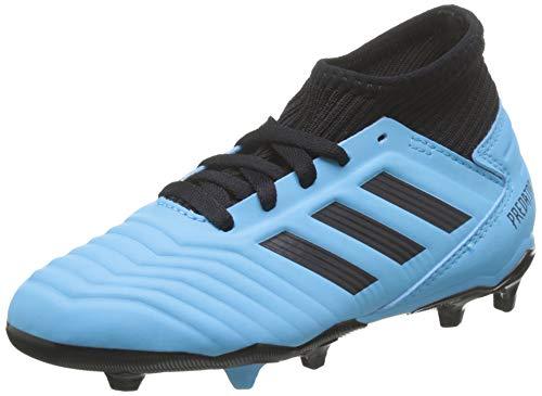 adidas Predator 19.3 FG Fußballschuh, BRCYAN/CBLACK/SYELLO, 34 EU