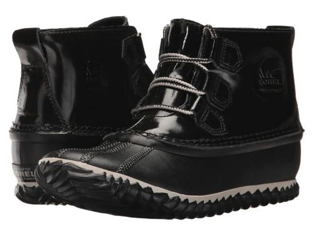 待って患者費やすSOREL(ソレル) レディース 女性用 シューズ 靴 ブーツ レインブーツ Out 'N About Rain - Black [並行輸入品]