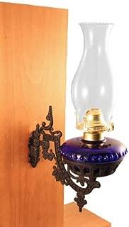 cobalt blue hurricane lamps