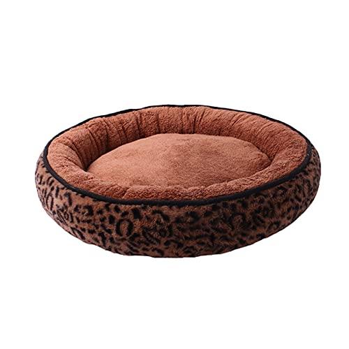 Aiong Cama para Mascotas, Cama para Perros, sofá, cojín para Cachorros, Estera de Felpa, casa,Perrerasúper Suave,Lavable, Redonda,cálida, para Dormir,Gato