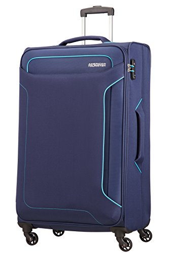 American Tourister Holiday Heat Valigia, Spinner L (79.5 cm-108L), Blu (Navy)