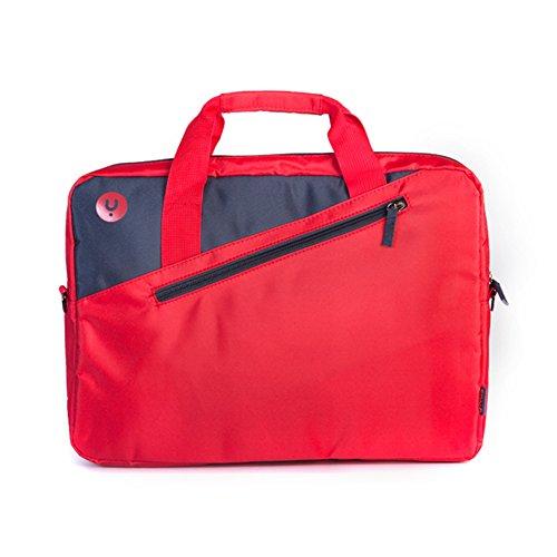 MONRAY Maletín para portátil Ginger Rojo, maletín para...