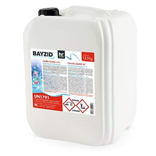 2 x 12,5 kg Chlor flüssig - mit 13 bis 15 % Aktivchlorgehalt - Wasserdesinfektion für Pools