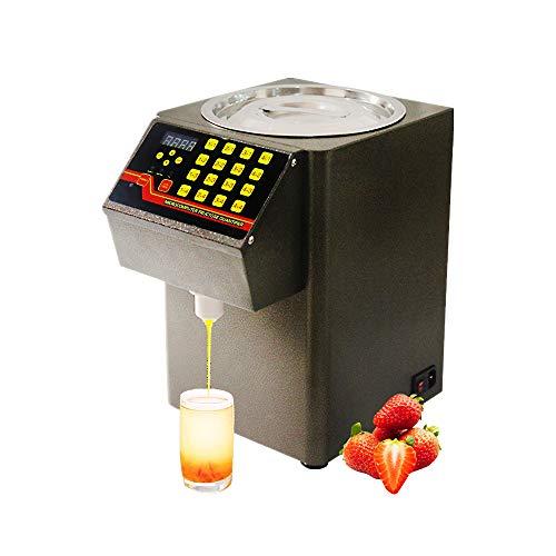 Dispensador automático de fructosa,máquina cuantitativa fructosa 8L con pantalla LCD,Dispensador jarabe equipo de té burbujas, distribución cuantitativa inteligente controlada por microordenador 500W