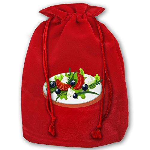 Hangdachang Weihnachtliche Tasche mit Kordelzug für Salat, Ramen Nudeln, Weihnachtsbeutel, für Geburtstagsparty