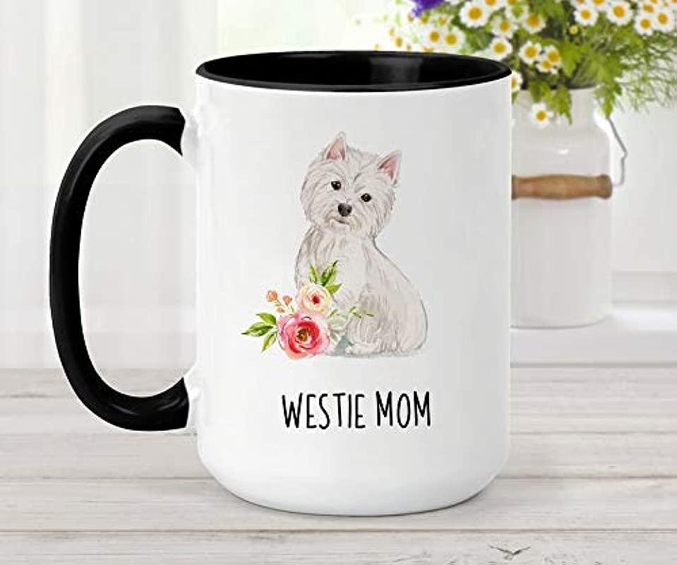 Coffee Mug Custom West Highland Terrier Mug Personalized Dog Mug Gift For Dog Mom Custom Pet Mug Gift For Dog Dad Westie Mug Birthday Thanksgiving Christmas Gift