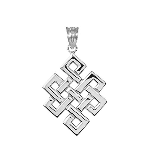 Fine Sterling Silver Japanese Endless Knot Pendant