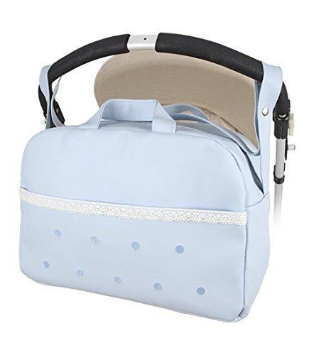 Bolso Carro bebe Maternal Polipiel Levante -Danielstore + Regalo de un babero (Azul)