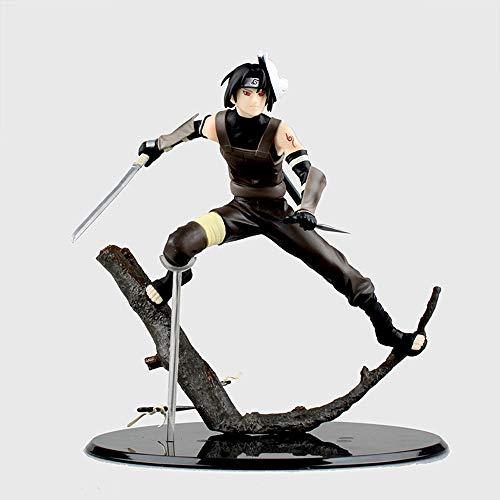 YSKCSRY Naruto Gem Uchiha Itachi Anbe Branch Scene Scene Modelo en Caja Figura Anime Decoración Estatua Modelo Colección Juguete Altura 20 cm