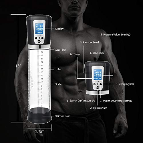 Adorime Rechargeable Automatic High-Vacuum Penis Enlargement Pump