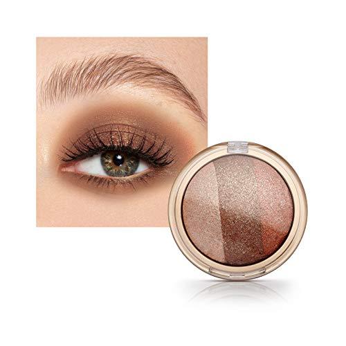 Mimore Eyeshadow Metallic Shimmering Single Baked Lidschatten, Baked gerösteten Lidschatten Earthy...