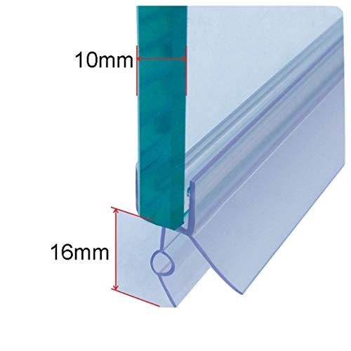 ECYC Rubber Plastic bad douche scherm deur afdichtstrip 10 mm, douche scherm deur afdichtstrip voor 10 mm glasdikte (lengte 0,7 m)
