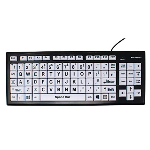 USB High Contrast Keyboard met extra grote toetsen/High Visibility Vision Disairment Keyboard/QWERTY Plug & Play / 2 Port USB Hub/iCHOOSE