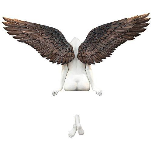Pppby Engel Statuen 3D EngelsflüGel Wandskulptur Kunst Skulptur Dekorative Große 3D Statue Wanddekoration Hängend am Fenster Engel Flügel Ornament Wanddeko für Wohnzimmer Schlafzimmer Dekoration