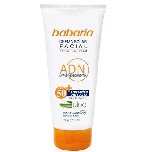babaria Antifalten-Gesichtssonnencreme LSF 50 75 ml
