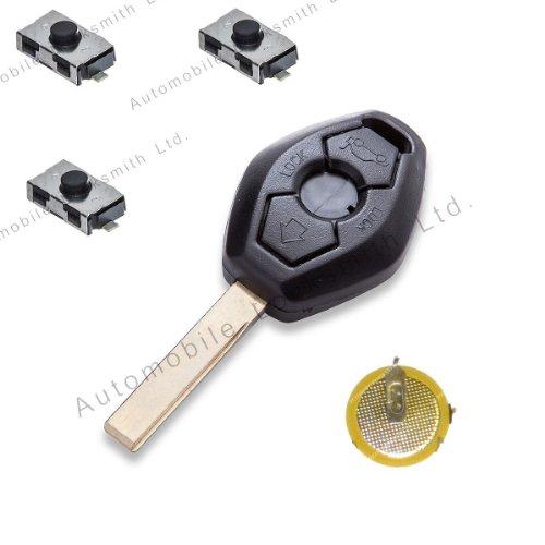 Automobile Lockmsith - Kit de reparación para llave con mando para BMW (3 botones, hoja de la llave HU92)