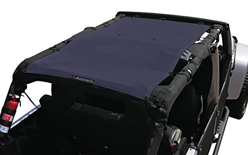 ALIEN SUNSHADE Jeep Wrangler Mesh Shade Top Cover with 10 Year Warranty Provides UV Protection for Your 4-Door JKU (2007-2017) (Royal Purple)
