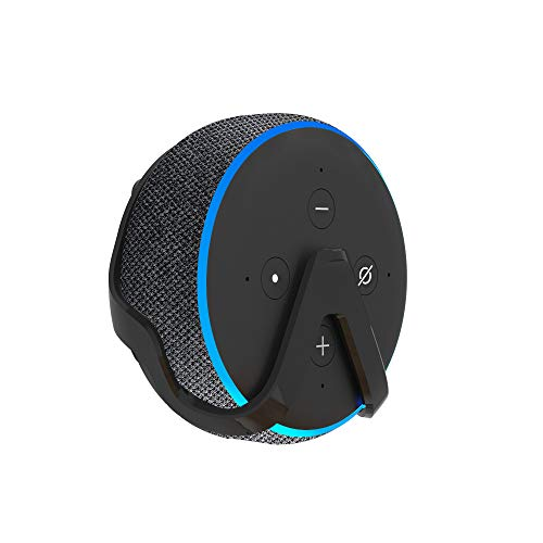 Health-Made Wall Mount For Echo Dot 3rd Generation Speaker Wall Holder Wall Hanger Stand Bracket Firm Holder Portable and Secure Black
