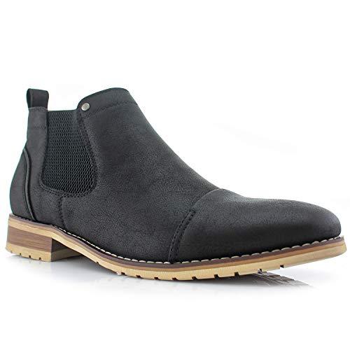 Ferro Aldo Sterling MFA606325 Mens Casual Chelsea Slip on Ankle Boots black Size: 4.5 UK