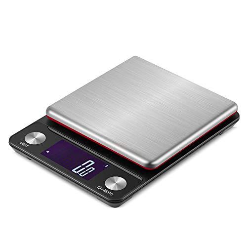 Miliway デジタルスケール キッチンスケール usb&乾電池両対応 はかり スケール 精密電子秤 5kg 0.1g 乾電池&USBコードに&PC透明カバー&取扱説明書付 MW305