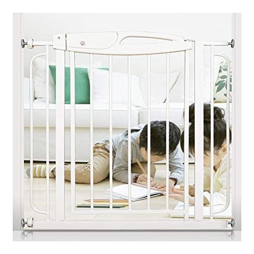 LITINGFC Escalier Et Porte Child Home Indoor Safety Door Rail Pet Isolation Door Escalier Balcony Clôture De Protection, Blanc (Color : White, Size : 75-90CM Wide)