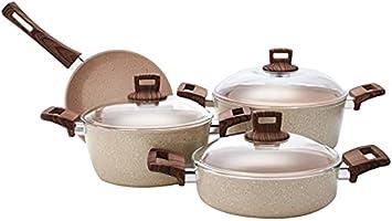 Granite Coating Series 7 Piece Cookware Set, 100057685, Beige