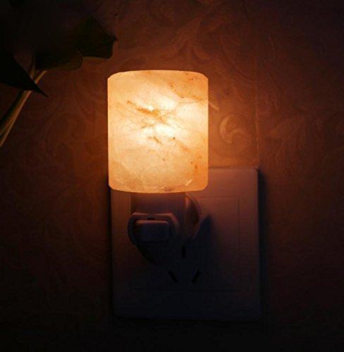 ZWL Crystal Salt Mine Applique, 6 * 5cm Himalayan Crystal Rose Sel 200g Coupe en forme de lampe de mur Night Light cadeau d'anniversaire mode (Couleur : A)
