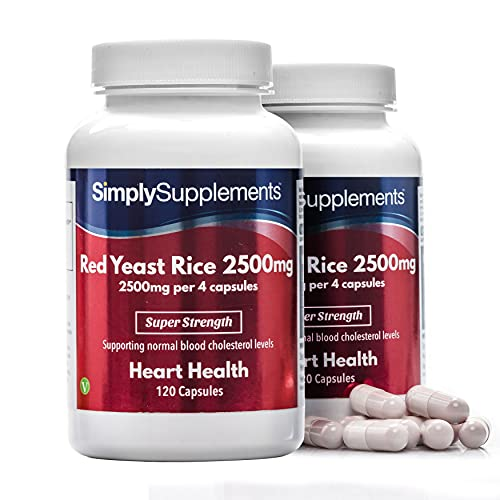 Red Yeast Rice 2500mg Super Strength | Supports Healthy Cholesterol Levels | Vegan & Vegetarian Friendly | 240 Capsules in Total = 60 Day Supply | Manufactured in The UK