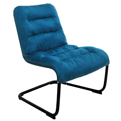 Zenree Comfy Bedroom Reading Chairs, Living Room Lounge Chair for Guest's Room Apartment, Colleage Dorm, Teen's Room, Padded Seat Black