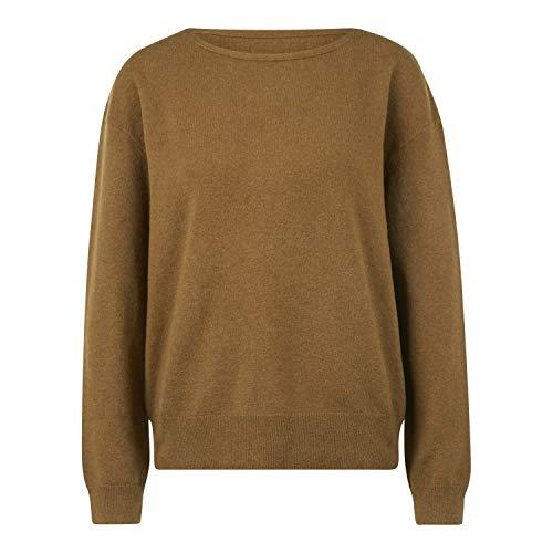 Marc O Polo Damen Pullover lg. Arm Jersey de manga larga, cuello barco. verde oliva. S