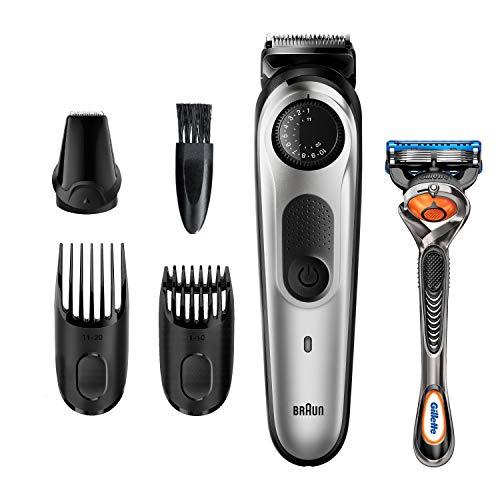Braun Beard Trimmer BT5260, Hair Clippers for Men, Cordless & Rechargeable, Mini Foil Shaver, Detail Trimmer with Gillette ProGlide Razor